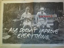 LEVI JEANS age doesn't improve everything 1991 Poster size Press ADVERT 24x16""