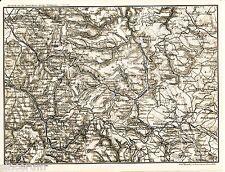 Oppenau Freudenstadt Dornstetten 1910 kl. General-Karte Simmersfeld Achern Bühl