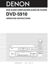 Denon DVD-5910 DVD Player Owners Manual