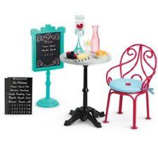 American Girl Grace BISTRO SET table chair faux food menu plate napkin glass
