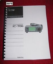 ICOM IC-706 Instruction Manual w/The Heavier Protective Covers! *ON 32 LB PAPER*