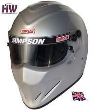Simpson Diamondback Casco Snell sa2015 MSA Hans ARGENTO XS-XXL