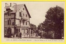 cpa Village de St JEAN le THOMAS (Manche) l'HÔTEL DUBOIS et le JARDIN de REPOS