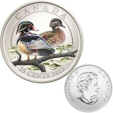 2013 Canada 25 cent Coloured Coin - Wood Duck - Ducks of Canada