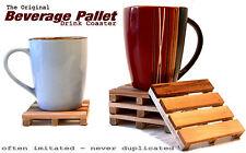 4 Beverage Pallet Drink Coasters - The ORIGINAL Pallet Coaster - Set of 4