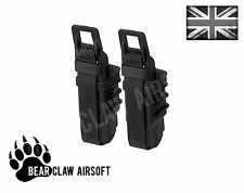 Black Airsoft FastMag Molle Pouch Double Fast Mag Clip / Pistol Magazine