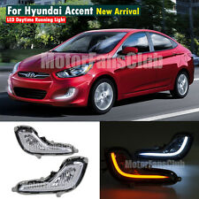 LED Daytime Running Light For Hyundai Accent DRL 2011 2012 2013 2014 Turn Signal