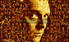 LARGE ORIGINAL MOSAIC PHOTO POSTER IN VARIOUS COLOURS OF RIK MAYALL R.I.P. No 9