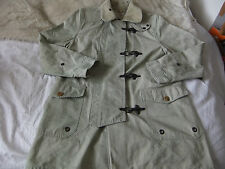 RALPH LAUREN  MENS NAVAL JACKET Size S .DISTRESSED DIRTY WASH  HEAVY METAL HOOKS