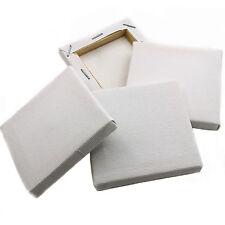20 x mini blanc carré artistes toile 70mm 7cm petite art board acrylique / peinture à l'huile