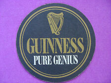 "Cool BEER COASTER ~*~ GUINNESS BREWERY Stout ~*~ ""Pure Genius"" ~ Dublin, Ireland"