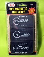 3 Magnetic Hide A Key Holders Spare Key Hidden Storage Safe Secret Hider Outdoor