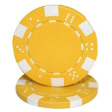 50 Clay Composite Dice Striped 11.5-Gram Poker Chips (YELLOW)