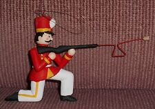 Vintage Department 56 Soldier Kneeling Holding Rifle Christmas Ornament Rare
