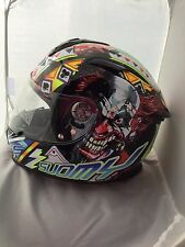 SUOMY SR SPORT GAMBLE TOP PLAYER CLOWN MOTORCYCLE  HELMET EXTRA LARGE