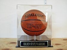 Basketball Display Case For A Golden State Warriors Autographed Team Basketball