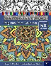 Libros para Colorear para Adultos : Mandala Flores Paginas para Colorear...