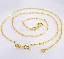 """24K Yellow Gold Plated Simple Classic Chain 45cm 17.5"""""""