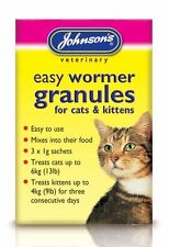 Johnsons Easy Round Wormer Granules For Kittens & Cats, 3x1g sachets mix in food