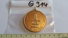 Feuerwehr Medaille Jugenfeuerwehr Zeltlager 1986 golden (g314-)