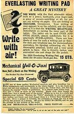 1929 small Print Ad Strauss Mechanical Toy Yell-O-Taxi & Everlasting Writing Pad