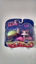 NEW LITTLEST PET SHOP PORTABLE PET TAN DOG # 67 WITH SPEEDY BOXCAR VERY RARE