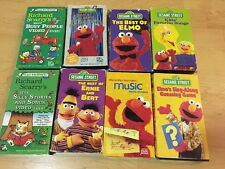 Sesame Street Elmo Richard Scarry Muppet Lot VHS Tapes Songs Kids 90s Lowly Worm