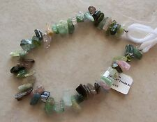 "8"" Strand Multi Tourmaline Gemstone Tumbled Rough Nugget Stick Beads 6mm-12mm"