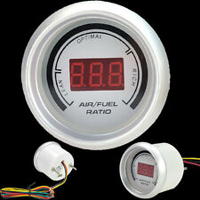 "2"" 52mm Digital Analog LED Air/Fuel Ratio Monitor Racing Gauge White Universal"