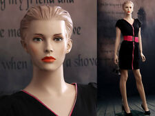 Female Fiberglass Mannequin Beautiful Face with Molded Hair Style #MZ-AD03