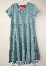 HANNA ANDERSSON Girl Love Twirl Pima Cotton Dress Discovery Blue 160 14 NWT
