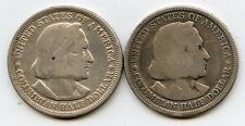 2 - 1893 50C Columbian Expo Silver Commemoratives. Circulated. Lot #2341