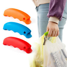 1x Silicone Grocery Bag Carrying Racks Holder Handle Clip Knob Grip Stuff Random