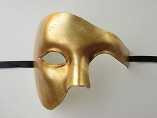 PHANTOM OF THE OPERA MENS MASQUERADE MARDI GRAS VENETIAN COSTUME HALF MASK GOLD