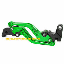 Bicycle CNC Adjustable Brake Clutch Levers Set For Kawasaki ZX636/ZX6RR 2005-06