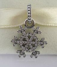 Authentic Genuine Pandora Silver Clear Snowflake Pendant Charm 390354CZ