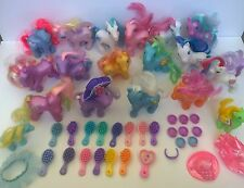 Hasbro My Little Pony Lot of 16 with Brushes Clothes Shoes Accessories G2 G3