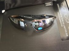 OAKLEY BADMAN PEWTER FRAME TUNGSTEN IRIDIUM LENS POLARIZED SUNGLASSES 602002