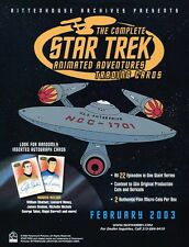 STAR TREK Trading Cards Sale Sheet - THE COMPLETE STAR TREK ANIMATED ADVENTURES