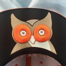 Hooters Owl Under Brim Cap Trucker Hat Snap Back Black Orange EUC Fathers Day
