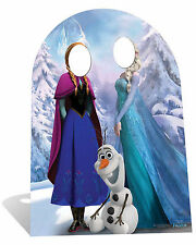 Frozen Anna, Elsa and Olaf CHILD SIZE CARDBOARD STAND-IN cutout standee party!