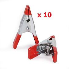 """10 x 4"""" 10cm METAL SPRING CLAMPS CLIP GRIP HOLD RUBBER COATED HANDLES DIY CRAFT"""