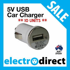 x 10 Units - USB Car Charger for iPhone iPod Galaxy HTC Nokia Sony LG 5V NEW