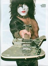 KISS Paul offers his axe magazine PHOTO / mini Poster 11x8 inches