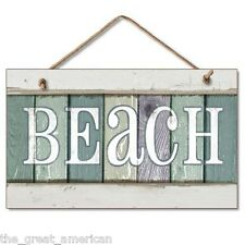 BEACH House Cottage Nautical Wooden Wood Sign Plaque Highland Graphics Made USA