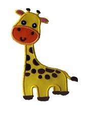 Giraffe Animal Embroidered Iron / Sew On Patch Badge Applique Motif