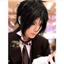 New Short Black Black Butler Sebastian Michaelis Lolita Anime Cosplay Wig3