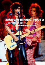 ROLLING STONES PHOTO MICK JAGGER , KEITH RICHARDS 8x11 pic 1975 RARE L.A. FORUM