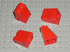 4 x Pièce inclinée LEGO Red slope brick ref 3678b / Set 7898 7239 10151 10216...