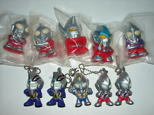 Lot of 5 LED Light Up Ultraman Keychains & 5 SD Ultraman Queezable Figures!